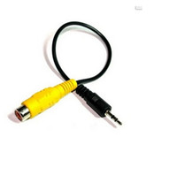 av microphone - 3 Pole MM Stereo Jack Plug To RCA Female Adapter For GPS AV in Converter Video Cable About CM DHL
