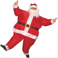 air blown decorations - Christmas Decorations Unisex Inflatable Santa Claus Mascot Costumes For Adults Air Blowing Fat Suits One Size For All