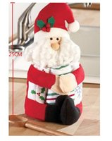 Wholesale 2015 Lovely Christmas Wine Bottle cute Cover Bag Xmas Decor Doll Gifts Santa Claus Snowman pieces