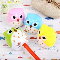 Wholesale 2 Hole Sharpeners Mini Owl Pencil Sharpener Cutter Knife Promotional Gift Stationery