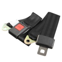 Seat Belts & Padding adjustable es - Universal Black Adjustable Lap Belt Car Truck Seat Belt Two Point Safety TH88 ES M10643