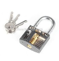 Wholesale New Arrival Cutaway inside Lock view of practice padlock lock training skill lock