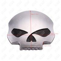 Wholesale Motorcycle D Chrome skull Skeleton Emblem Badge Decal for Harley XL Dyna Softail Touring Vrsc