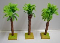 artificial coconut trees - artificial plastic cute mini model palm coconut tree for wedding Christmas or party decoration
