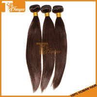 Wholesale New Colored Hair Styles Grade A Brazilian Human Virgin Silky Straight Hair Extensions Double Drawn Brown Hair Weft No Shed