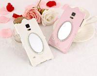 magic rose - 2015 Rose Rhinestone Magic mirror for Apple iPhone case plus s whit Makeup mirror lady Useful Plastic Smartcover