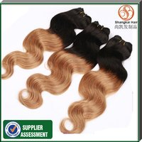 Cheap Hot selling 100g Peruvian Ombre Hair Extensions Body Wave Virgin Hair Weave Human Hair Weft 3bundles lot Free Shipping By DHL