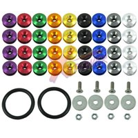 aluminum truck bumpers - 10Set JDM set Uinversal QUICK RELEASE FASTENER ALUMINUM KIT FOR BUMPER TRUNK HATCH CAR TRUCK