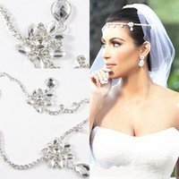 Wholesale Kim Kardashia Real Images Rhinestone New White Strapless Formal Prom Wedding Dress Ball Gown HaI jewelry