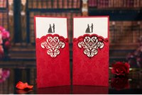 Wholesale 2015 Red Wedding Invitations With Inserted Letter Width cm Height cm Pieces A