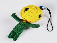 Wholesale Brand New Halloween Products Ethnic voodoo dolls Kid s Gift Keychain Keyring inch Dolls