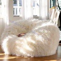 Wholesale sofa set living room furniture luxe bean bag faux fur adult outdoor long faux fur lounge Chair corner sofa bed