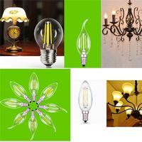 Wholesale Hot Sales V E27 E14 W LED Bulbs Retro Edison Globe Filament Candle Lighting Lamp Home Decor JI22