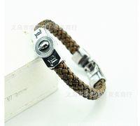 Cheap FREE SHIPPING Christmas gift Cartoon bracelet Movie TV anime cosplay logo Death Note L.LAWLIET logo pendant leather wristband C1460 300pcs