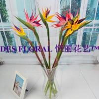artifcial flower - Decorative Flowers Artifcial PU Bird of Paradise Stem quot for Wedding and Home Decoration