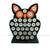 display board - New Arrival mm Snap Button Display Stands Fashion Owl Black Acrylic Interchangeable Button Jewelry Display Board