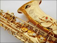 bakelite parts - 2015 New Hot sale Best Selling French Selmer E Flat Alto Saxophone parts Electrophoresis Gold Saxe Top Musical Instrument