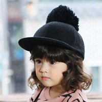 baseball cloth - 2015 Autum winter Unisex Baseball Cap High Quality Cloth Hiphop For Children Magic Stick Adjusting Button Horse Hats For Kids CR98