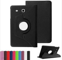Wholesale 360 Degree Rotating PU Leather Case Smart Cover For Samsung Galaxy Tab E Inch T560