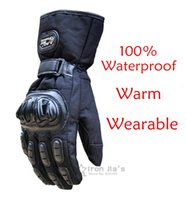 waterproof gloves - Motorcycle Gloves Winter Warm Waterproof Windproof Protective Gloves Waterproof Guantes Luvas NB03