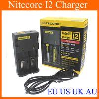 Cheap Original Nitecore I2 Universal Charger Fit 18350 18650 14500 26650 E Cigarette Mods Battery Multi Function Intellicharger US UK EU AU FJ011