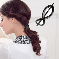 basics hair design - 5 High Quality Number design Acrylic Hair Clips Basic Plastic Hair Pins for Ladies Fashion Hair Clamps