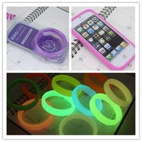 Wholesale Fluorescen Luminous Ringcase Hair Band Bumper Case For iphone S Noctilucent Glow In the Dark Silicone Rubber Frame Shining Lighting Wrist
