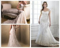 beads on line - Custom Made A Line sweetheart neckline and gorgeous beaded lace On The Tulel Gown detachable cap sleeves Emma Wedding Dresses