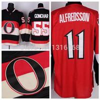 alfredsson ottawa - 2015 Newest Ottawa Sergei Gonchar Jersey Men s Daniel Alfredsson Ice Hockey Jersey Cheap Embroider Logo Fast