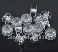 Wholesale 100pcs Clear Plastic Bobbins Spools for Wire Thread String Sewing Accessories mm A00618S