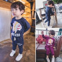 baby boy activewear - Long Sleeve T Shirt Boys Suits Children Set Kids Outfits Boys Clothing Sets Spring Autumn Activewear Pants Baby Clothes Lovekiss C22105