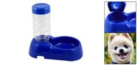Wholesale IMC Blue Plastic Double Food Bowl Water Dispenser for Dog Cat order lt no track