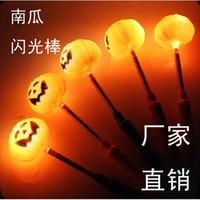 Unisex foam pumpkins - Halloween Lights Led Light Sticks Pumpkins Foam Stick Toy Christmas Gift B30