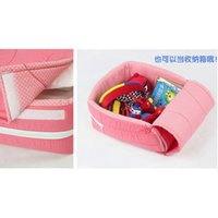 Wholesale Newborn Baby Cradles Crib Infant Safety Portable Folding Bed Cot Playpens Bed Child for Months Colors
