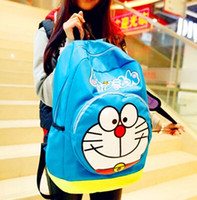 Wholesale Doraemon Nylon bag doraemon backpack jingle cats cute cartoon leisure Male and female high school backpack cm cm cm