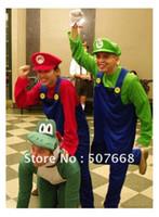 Costume 160-175CM adultes Super Mario Luigi costume de mascotte Fantaisie Parti Cosplay Halloween détail