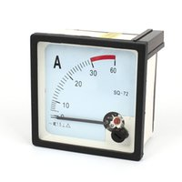 Others Others Others Wholesale-Black White AC 0-30A Analog Ammeter Panel Ampere Current Meter SQ-72 0.0Ammeter50.0