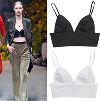 Wholesale 151204 Sexy Women V Neck Cut Out Bra Crop Bustier Corset Tops Blouse Tank Top
