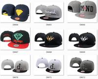 Hotsale Marca Diamond sombreros 5 tapas del panel snapback sombreros sombreros frescos sombreros personalizados hip hop gorras hombres sombreros de moda competitivos de alta calidad sombreros