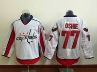 Wholesale TJ Oshie Red White Home Away Authentic Stitched Jersey New Hockey Jerseys Washington Capitals Jersey