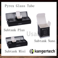Wholesale Kanger Subtank Pyrex Glass Tube Toptank Mini Pyrex Glass Tube Subtank Mini Subtank Nano Clearomizer Glass Tube Original