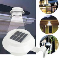 yard fence - Solar Power LED Light Fence Lamp Path Way Garden Decking Yard Wall Pathway Fence Gutter Lamp Light stair lighting house decorations