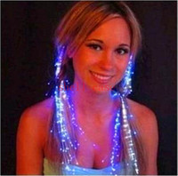Wholesale Led Light Hair Flash Pigtail Braid Hair Decoration Fiber Luminous Braid for Halloween Christmas Birthday Party Holiday Dresses Colorful NEW