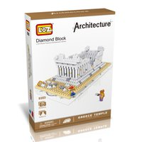 best architecture world - LOZ The Parthenon Temple Hellenic Model Nano World Architecture Britain D Diamond Building Blocks Action Figure D Bricks Best Toys