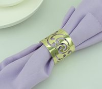 Wholesale Factory Price Cutout Metal Napkin Rings Hotel Wedding Supplies Party Table Decoration Accessories Napkin Cloth ring
