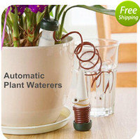 automatic watering plants - 12 Indoor auto drip irrigation watering system Automatic plant waterers for houseplant seen TV Novelty households