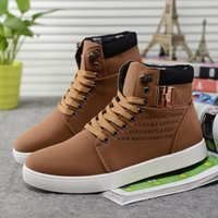 Wholesale Winter sports shoes breathable men s casual leather Sneaker version fashion shoes British men s warm leather Sneaker