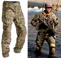 airsoft army gear - Men Military Army Tactical Gear Airsoft Paintball Outdoor Hunting Clothes Combat BDU Gen3 Pants with Knee Pads Multicam MC