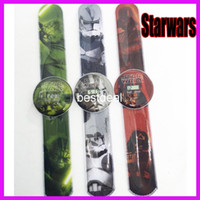 Wholesale cartoon pops watch Star Wars watch Starwars Slap Wristwatches selling electronic Slap Snap Kids gifts Silicone Quartz Watch christmas gift