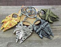 Wholesale Fashion Practical keychains Star Wars spacecraft warships Alloy Bottle Opener car keychains wedding gift with parper card by FedEx